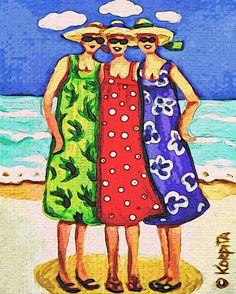 Kite Flying 101 Funny Women Beach Seashore Kites La