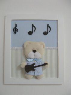 Quadro Urso com Guitarra