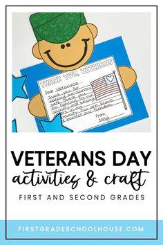 Fun Writing Activities, Veterans Day Activities, Holiday Activities, Veterans Day Poem, 2nd Grade Writing, Bulletin Board Display, Daisy Girl, Preschool Class, American Symbols