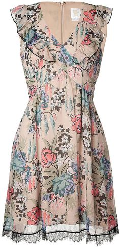 Anna Sui Rose Print Dress