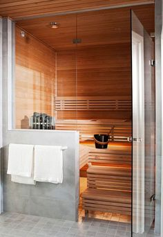 30 Cozy Small Bathroom In Home Saunas - Daily Home List Saunas, Bathroom Spa, Modern Bathroom, Small Bathroom, Steam Bathroom, Steam Room Shower, Sauna Steam Room, Sauna Room, Basement Sauna