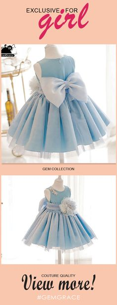 Only $58.99, Flower Girl Dresses Blue Princess High-end Flower Girl Dress With Big Bow For Formal Parties #TG7033 at #GemGrace. View more special Flower Girl Dresses,Cheap Flower Girl Dresses now? GemGrace is a solution for those who want to buy delicate gowns with affordable prices, a solution for those who have unique ideas about their gowns. Click to shop now!