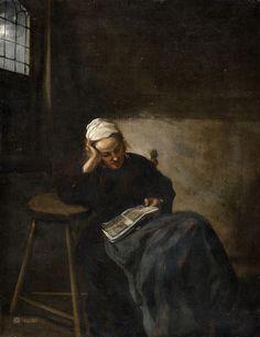 Claes Hals - Girl Reading [c.1660]