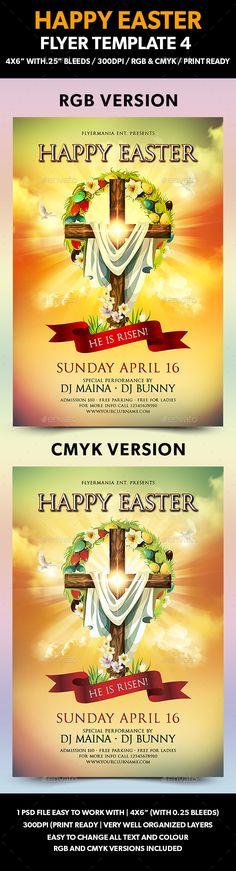 Broken Egg Egg and Filing - easter flyer template