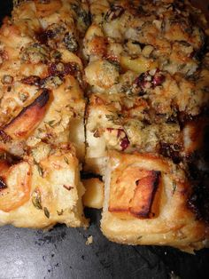 Stilton and quince focaccia — HOWARD MIDDLETON Baking Parchment, Gbbo, Fresh Thyme, Tray Bakes, Fresh Fruit, My Recipes, Stuffed Peppers, Food, Sheet Cakes