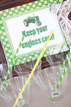John Deere Party - Keep your engines cool-Photography by Country Chicks Photography, Lindale Texas.