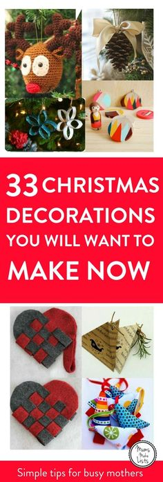 Homemade Christmas Decorations, Curation of make at home Christmas decorations