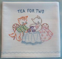 Hand Embroidered Tea-Towel