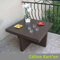 Table basse en carton - Table basse en carton  - Vous êtes fan de cartonnage ? Montrez-nous vos créations !