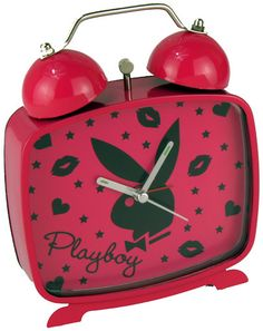 PLAYBOY Retro Wecker BUNNY Alarm Clock UHR KISSES