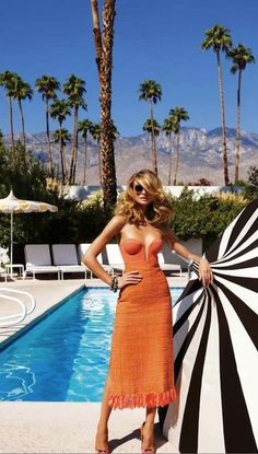 """""""Endless Summer"""": Fabiana Semprebom in Palm Springs by Troyt Coburn for Marie Claire Australia"""