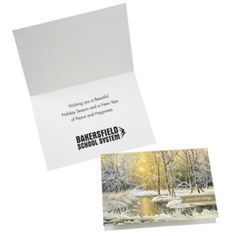These personalized cards help spread good tidings this holiday season! Personalized Cards, Custom Greeting Cards, Place Card Holders, Cards Against Humanity, Peace, Messages, Let It Be, Holiday, Vacations