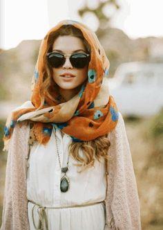 Bohemian Chic Sunglasses Headscarves b99f669186e4