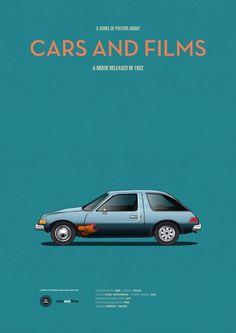 Poster of Wayne's World car. Illustration Jesús Prudencio. Cars And Films