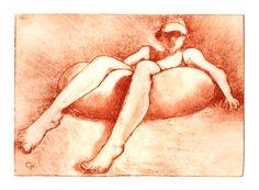 Rêverie pneumatique by Philippe Chesneau - Point dries and aquatint - tirage print buvard H L 12 x 16 cm