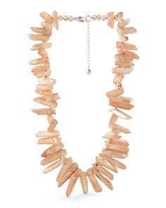 image of Sterling Silver Iridescent Agate Necklace