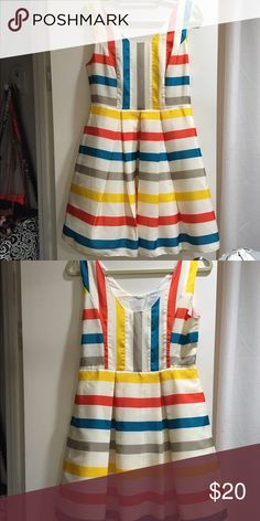 Colorful striped dress Never worn. Brand new. ModCloth Dresses