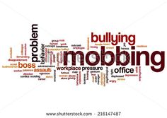 Mobbing concept word cloud background - stock photo