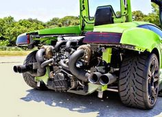 This is the famous lime green 2000hp twin turbo gallardo
