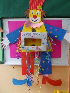 Ταξιδεύοντας στο κόσμο των νηπίων: Η ΔΙΚΗ ΜΑΣ ΤΣΙΚΝΟΠΕΜΠΤΗ!!! Clown Crafts, Carnival Crafts, Carnival Costumes, Diy For Kids, Crafts For Kids, Arts And Crafts, School Carnival, Classroom Themes, Activities For Kids