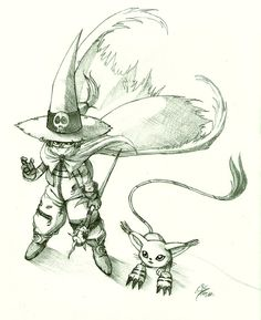 Wizardmon y Gatomon