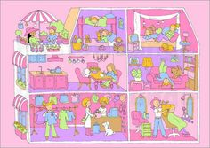 Poster / Leinwandbild Puppenhaus Suchbild - Fluffy Feelings in Möbel & Wohnen, Dekoration, Bilder & Drucke | eBay
