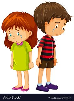 Sad boy and girl crying illustration stock vector - 94585564 School Boy, Sunday School, Cute Images, Cute Pictures, Preschool Rules, Alphonse Mucha, Male Figure, Kids Videos, Animaux