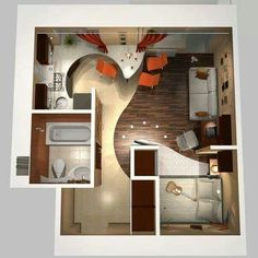 One room apartment layout ideas 83 - Savvy Ways About Things Can Teach Us One Room Apartment, Apartment Layout, Apartment Design, Studio Apartment, Studio Apt, Studio Living, Apartment Living, Apartment Ideas, Tiny Spaces
