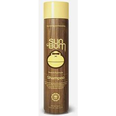 Sun Bum Beach Formula Shampoo (10oz) ($18) ❤ liked on Polyvore featuring beauty products, haircare, hair shampoo, yellow and frizzy hair shampoo