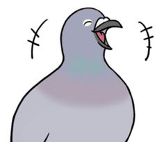 Cute Pigeon by Studio Pigeon Cute Pigeon, Kawaii, Line Sticker, Printable Stickers, Cute Photos, Cute Animals, Brain Gym, Chat App, Profile Pictures