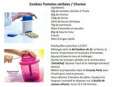 Tapas - Cookies tomates séchées chorizo - Tupperware