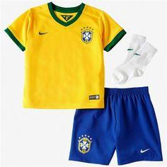 Brazil Nike Kids Home World Cup Soccer Kit