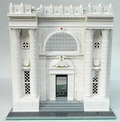 Lego MOC Modular WIP - Library facade by elizabeth nevermind Lego Moc, Lego Minecraft, Lego Lego, Minecraft Buildings, Lego Technic, Lego Batman, Legos, Modele Lego, Lego Village
