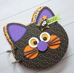 Doodlebug Design Inc Blog: Ghouls & Goodies: Black Cat Mini Album by Shellye McDaniel.