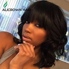 Find More Human Wigs Information about Top Short Brazilian Full Lace Wigs…