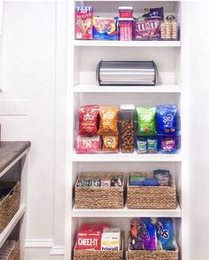 Fashion Look Featuring Container Store Kitchen Storage by thehomeedit - ShopStyle Stackable Plastic Storage Bins, Storage Boxes With Lids, Storage Baskets, Kitchen Storage, Storage Ideas, Pantry Organisation, Home Organization, Snack Station, Bread Storage