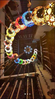 Mosaic chandelierceiling fixture24 ball Arabian by BeautyofTurkey