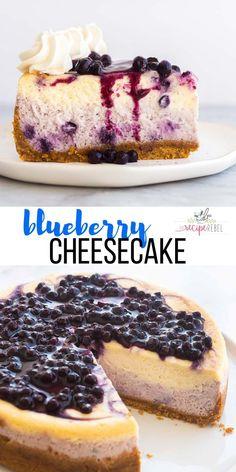 Easy Blueberry Cheesecake Recipe, Banana Pudding Cheesecake, Blueberry Desserts, Chocolate Desserts, Blueberry Sauce, Cheesecake Squares, Cheesecake Bites, Pudding Cake, Cheesecake Cake