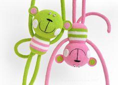 crochet monkeys by sashakulakova, via Flickr
