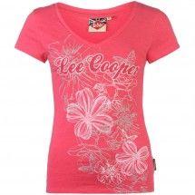 Lee Cooper - Glitter V T Shirt Ladies