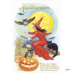 Tin Sign old drawing greeting postcard Halloween pumpkin witch broom black cat poem 20x30 cm Large Metal Wall Decoration Vintage Retro Classic Plaque Tin Sign. Metal shield. original wall decoration. Size: 20 x 30 cm. U.S. Decoration.  #LeotieFashion&lifestyle #Home