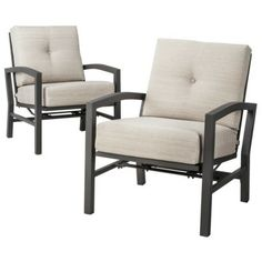 Threshold™ Squier 2-Piece Metal Patio Motion Club Chair Set