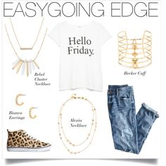 Easygoing Edge by stelladot on Polyvore featuring MANGO, J.Crew, H&M and Stella & Dot