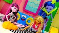 Куклы монстер Хай и куклы Барби: здоровое питание и фитнес. Ютьюб видео ...