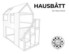 How do I build a house bed or playhouse with stairs from an IKEA KURA bed? The answer is basically very simple – with our IKEA hack! You need it roughly: an IKEA KURA bed 90 x 200 cm an IKEA TROFAST staircase a wooden frame construction and wooden Kura Bed Hack, Ikea Kura Hack, Ikea Trofast, Kallax, Cama Ikea Kura, Step Shelves, Japanese Bed, Ikea Bedroom, House Beds