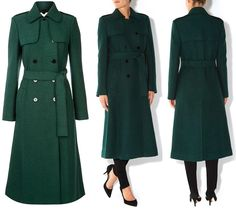 Kate In New Green Ensemble for Irish Guards St. Patrick's Day Ceremonies