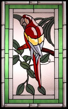 Stained Glass Bevels Parrot by Stained Glass Innovation
