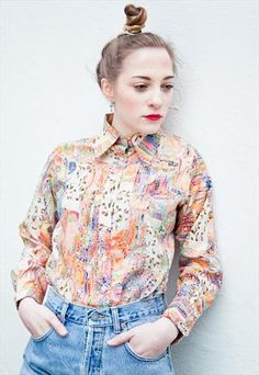 Vintage 70s patterned blouse  from Mint Vintage £32
