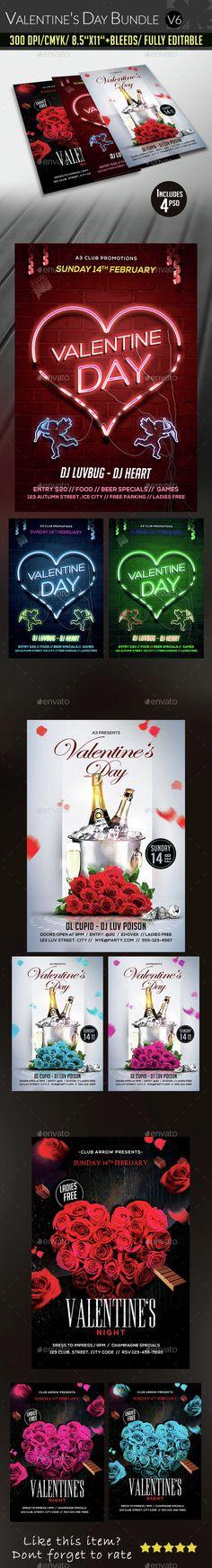 Valentine's Day Flyer Bundle Template PSD. Download here: http://graphicriver.net/item/valentines-day-flyer-bundle-v6/14648991?ref=ksioks
