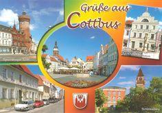 PK0942. Cottbus. Germany. Tor zum Spreewald. Ca. 123000 Einwohner, bedeutende Stadt in der Niederlaussitz im östlichen Teil des Bundeslandes Brandenburg. In der Nähe Schloss und Park des Fürsten Pückler-Muskau mit Museum.